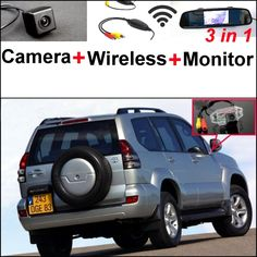 72.04$  Watch now - 3 in1 Special Camera + Wireless Receiver + Mirror Monitor Parking System For TOYOTA Land Cruiser Prado J90 J120 J150 1996~2015  #buyonlinewebsite