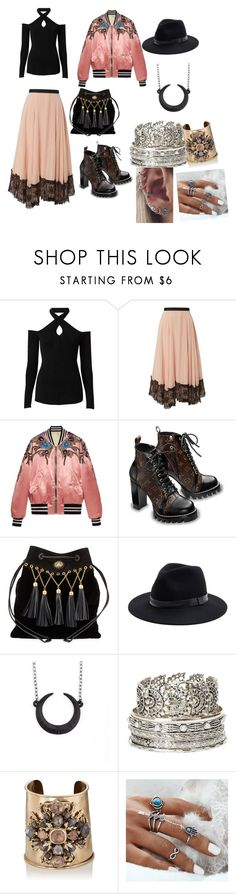 """""""Pretty little  liars oc    Luna Montgomery ( Arya little sister)"""" by eyla-kingsley ❤ liked on Polyvore featuring Witchery, Cinq à Sept, Gucci, Miu Miu, Sole Society, Charlotte Russe, Goossens and Barque"""