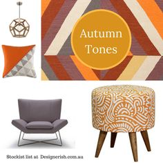Beautiful Autumn tones or orange, red and brown help set the warm scene as the interior reflects the beauty of Autumn. Read more at Designerish.com.au Orange Red, Colour Schemes, Scene, Autumn, Brown, Interior, Color, Beauty, Beautiful