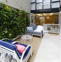 On The Block triple Threat last night we saw the final room reveals. the Terraces. Outdoor Gardens, Indoor Outdoor, Outdoor Living, Outdoor Decor, Outdoor Ideas, Backyard Cabana, Small Backyard Landscaping, Landscaping Ideas, Small Terrace