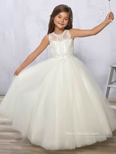 Mary/'s Bridal Cupid F273 Girls White Pageant Flower Girl Dress sz 8