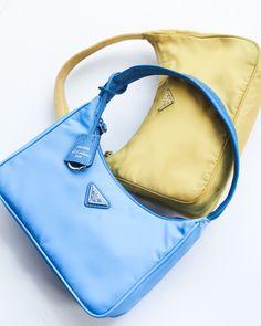 Prada Reissues Its Iconic Nylon Mini Bag If you like Fashion Checkout our Roku Channel! Hobo Handbags, Prada Handbags, Purses And Handbags, Leather Handbags, Hobo Purses, Prada Purses, Hobo Bags, Mini Handbags, Small Handbags