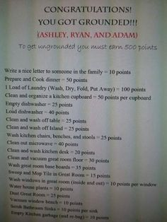 Clever idea for punishments when kids are older