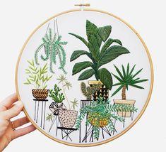 Занимательная ботаника на пяльцах: потрясающие вышивки Sarah K. Benning - Ярмарка Мастеров - ручная работа, handmade