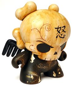 'The End' by Squink. Custom Huck Gee Skullhead Dunny goes on sale this friday at http://squinky.co.uk.