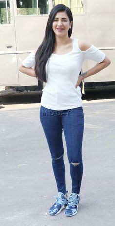Spotted: Shruti Haasan at Film City in Mumbai