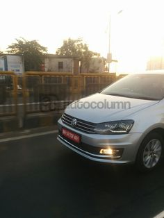 VW Vento Highline Plus with LED headlights spied on test