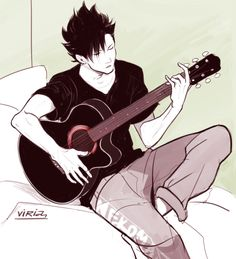 Sometimes I think about Kuroo Tetsurou playing the guitar and I get really distracted