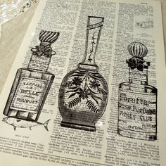 stamping on old newspapers for craft projects...
