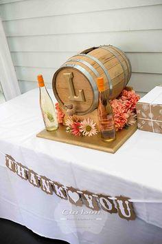 Wine Barrel Card Box Wedding