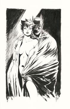 Batman and Catwoman Guillem March Comic Art