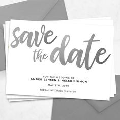 Silver Save The Date Printable Template Editable Download