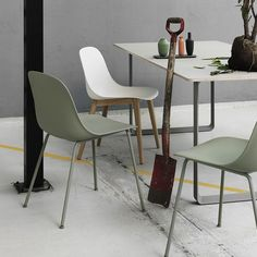 Fiber side chair houten onderstel-Muuto