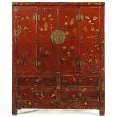 antique chinese painted cabinet