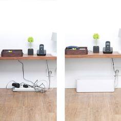 Desk cord organizer Cord Management Desk Cable Management Gogadgety Under Desk Cable Management Organizer Cablebox By Blue Lounge Hide Cable Box, Hide Cables, Hide Wires, Hide Tv Cords, Blue Lounge, Organizing Wires, Cord Organization, Home Office Space, Diy Desk