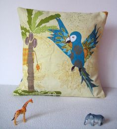 Jungle Parrot or Lizard Scatter Cushion. $20.00, via Etsy.