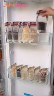 kitchen pantry design Spark JOY in your fridge, freezer, or just about anywhere, with these ADORABLE Mason Jar storage freezer bags. These are a fun way to store cookies and Kitchen Organization Pantry, Diy Kitchen Storage, Diy Storage, Organization Hacks, Bathroom Organization, Storage Ideas, Organizing Tips, Organizing Ideas For Kitchen, Cleaning Tips