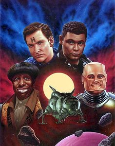"A great Red Dwarf poster! With the Cat as Duane Dibbley (Note: NOT Dwayne) from the episode ""Back to Reality"". LOL"