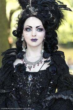 she looks as if she is goth royalty.