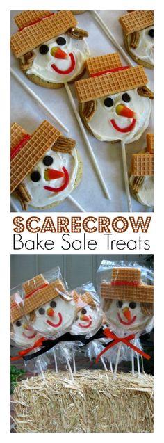Scarecrow Bake Sale Treats: Margaret's Sugar Cookies | ReluctantEntertainer.com @SkiptomyLou #Halloween
