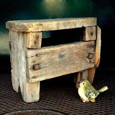 The best RUSTIC OLD STOOL Ever  //  Farm Stool  //  Step Stool  //  Foot Stool  // Very Mid Century  //. $49.00, via Etsy.