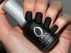 matte black nails, love it