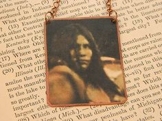 Native American inspired necklace or pendant Lozen Jewelry  mixed media jewelry
