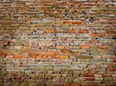 I love all the colors in this wall. It would make a great interior wall in my rustic cabin. Detail of Old Brick Wall | Stock Photo © Lane Erickson #2350039