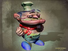 An evil cook character design.