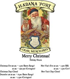 We at Habana Port and CigarEarth.com wish you a Merry Christmas. We also look at the Cuban cigar issue due to recent White House announcements.