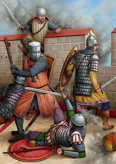 Constantinople, 1203.  Illustration d'Angel García Pinto.