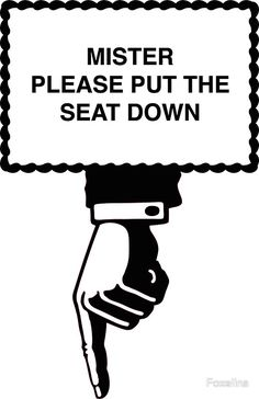 Buy 'Put the seat down sign' by Foxelina as a Sticker. Put the seat down sign. Stick it on the wall above the toilet, or in the inside of the lid. Printable Certificates, Copy Print, New Toilet, Student Discounts, Funny Signs, Stickers, Sayings, Cricut Ideas, Bathroom Ideas