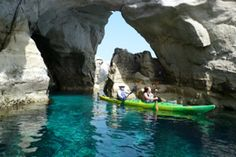 Sea Kayaking In The Cyclades of Greece by Tom Holtey Sea Cave, Places In Greece, Kayak Tours, Greek Islands, Historical Sites, Ecology, Touring, Kayaking, Graduation