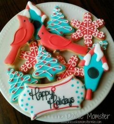 The Cookie Momster: Happy Holidays cookie platter (non-religious for Christmas)