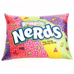 Rainbow Nerds Candy Pillow! Cuddle up to the Nerds Candy Rainbow. $24