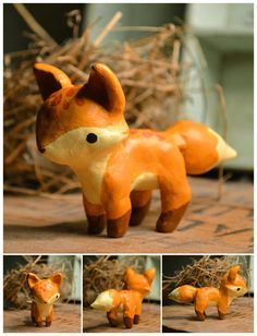 Oven-bake clay and acrylic paint... I might be giving this a go! :D