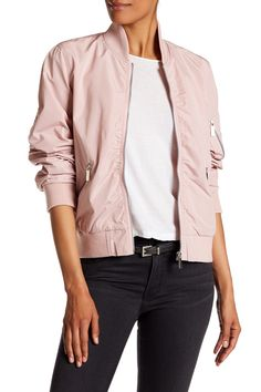 Ruched Bomber Jacket by French Connection on @nordstrom_rack