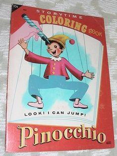 Books アンティーク塗り絵ピノキオ 古い図案洋書ビンテージディズニー インテリア 雑貨 家具 Antique ¥450yen 〆10月08日