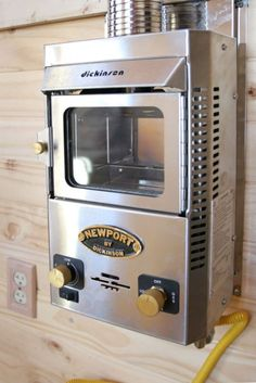 From TumbleWeed Tiny Homes....a miniature propane heater.