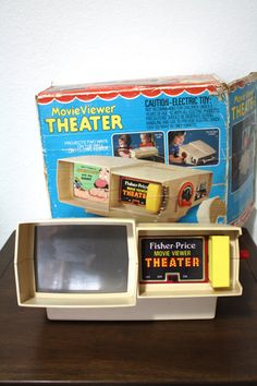Vintage Fisher Price Movie Theater Viewer and Projector with Box