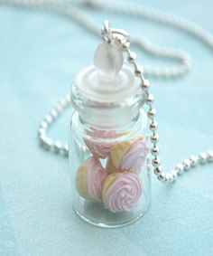 Pink Cupcakes in a Jar Necklace - Jillicious charms and accessories - 1