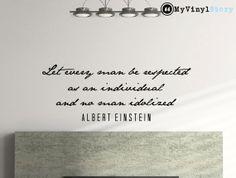 Albert Einstein inspirational business quote wall by MyVinylStory, $17.97