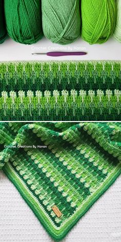 Neat and even stitches are an effect of months and months of practice, and this beautiful baby blanket is a fantastic example. Moreover, this tension is impeccable! Juicy greens cannot be more springy, right? Crochet Bedspread Pattern, Baby Sweater Knitting Pattern, Crochet Quilt, Crochet Flower Patterns, Afghan Crochet Patterns, Baby Blanket Crochet, Crochet Motif, Crochet Doilies, Crochet Stitches