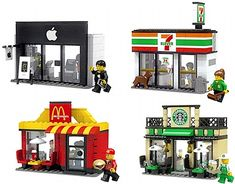 THIS IS AMAZING!!! Lego CUUSOO City Mini Shop Series includes: Starbucks, Apple Store, 7-Eleven, McDonalds, Dunkin' Donuts, and a Lego Store! Seems to be just a concept at this point, though...bummer