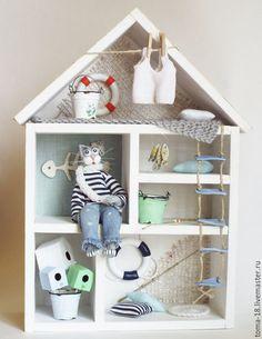Купить Домик кота Обормота. - морская тема, морской стиль, морской дом, морской кот