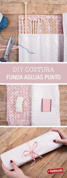 Protege y guarda tus agujas de punto con una funda de tela como la que te enseñamos a hacer en este tutorial DIY - en DaWanda.es