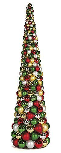 Autograph Foliages A171838 3 Ft Ball Cone Tree44 Mixed See This Great Product This Is An Affi With Images Silver Christmas Tree 3ft Christmas Tree Christmas Topiary