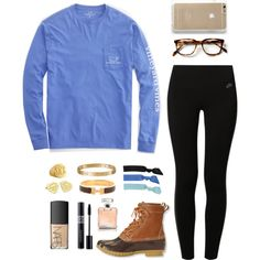 A fashion look from August 2015 featuring Vineyard Vines t-shirts, NIKE and L.L.Bean boots. Browse and shop related looks.