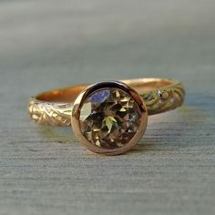 Zultanite and Recycled 14k Rose Gold Ring