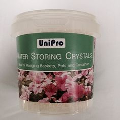Water Storing Crystals | Unipro Water Storing Crystals Mix with plant soil. Crystals absorb water many times their weight providing plants with valuable reservoir of water during growning season